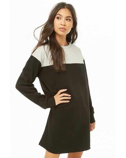 71fbe1655995 Forever 21 - Gray Fleece Colorblock Dress - Lyst ...