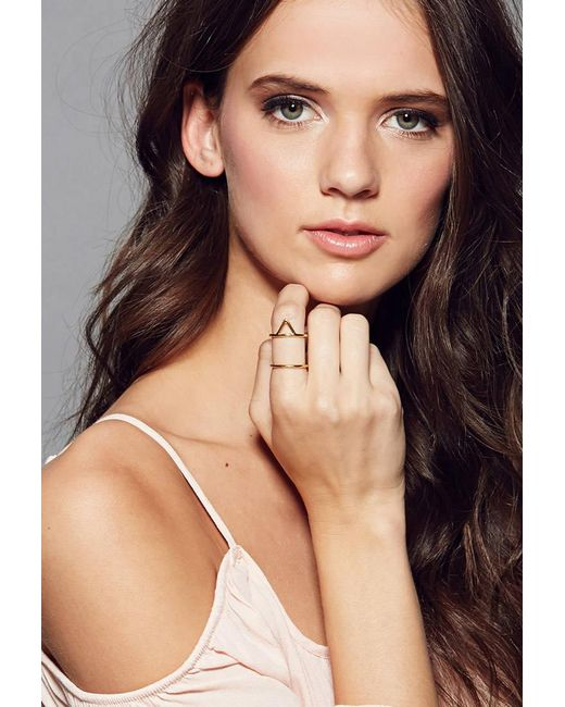 Forever 21 | Metallic Amarilo Triangle Cage Ring Brass | Lyst