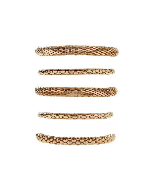 Forever 21 | Metallic Tube Chain Bracelet Set | Lyst