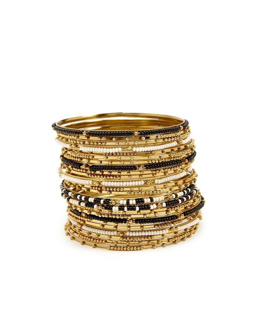 Forever 21 - Metallic Beaded Bangle Bracelet Set - Lyst