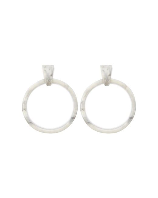 Forever 21 - Gray Marble Hoop Earrings - Lyst