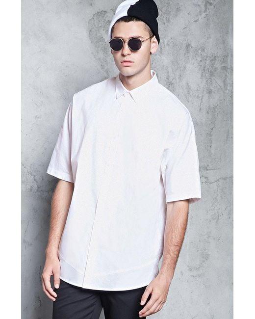 Forever 21 | White Slim-fit Woven Shirt for Men | Lyst