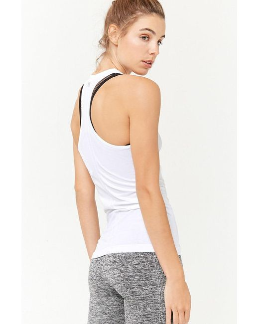 Forever 21 - White Active Seamless Racerback Tank Top - Lyst