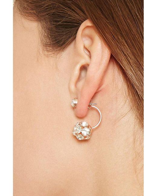 Forever 21   Metallic Rhinestone Studded Ear Jackets   Lyst