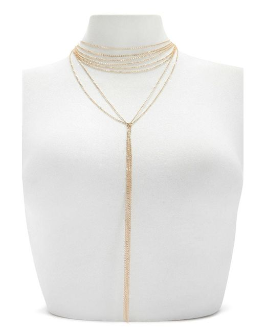 Forever 21 - Metallic Layered Drop Chain Necklace - Lyst