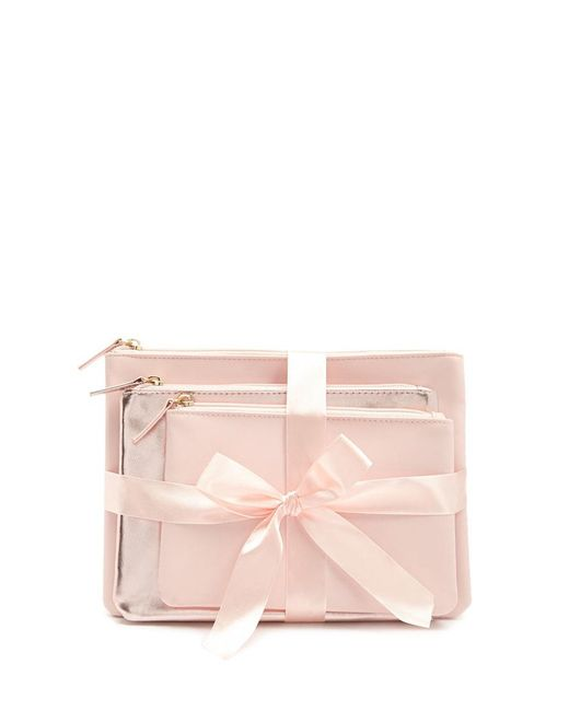 Forever 21 Pink Makeup Pouch Set Lyst