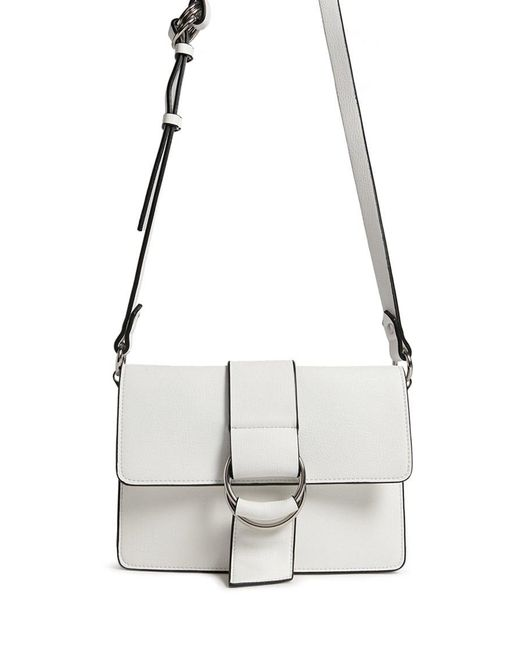 Forever 21 - White Faux Leather Crossbody Bag - Lyst
