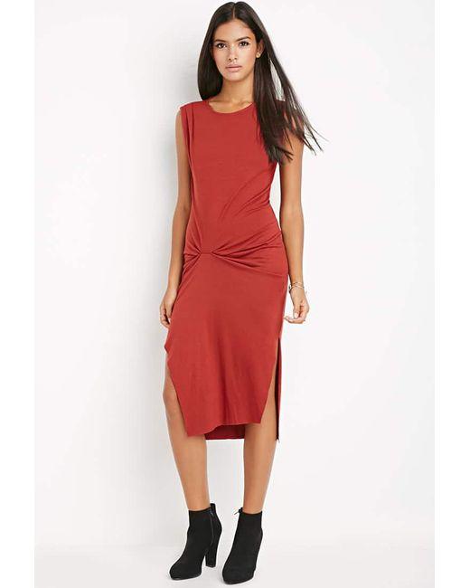 Forever 21 | Gathered Midi Dress | Lyst