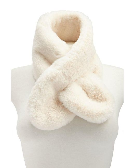 Forever 21 - Natural Faux Fur Oblong Scarf - Lyst