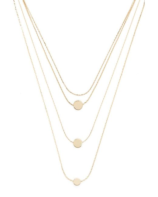 Forever 21 - Metallic Circle Pendant Necklace Set - Lyst