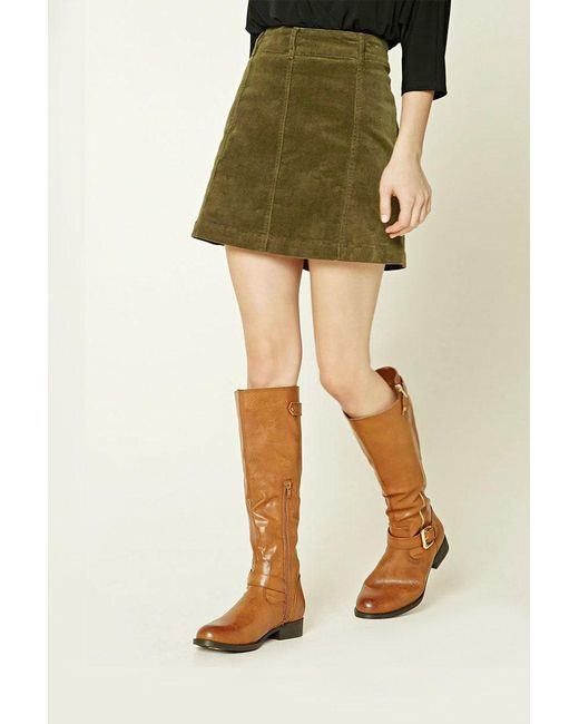Forever 21 | Multicolor Knee-high Faux Leather Boots | Lyst
