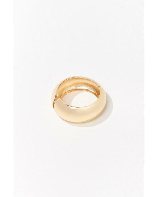 Forever 21 Metallic Hollow Hinge Bracelet , Gold
