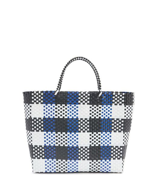 Forever 21 - Blue Plastic Woven Tote Bag - Lyst