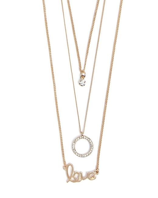 Forever 21 Metallic Assorted Necklace Set , Gold