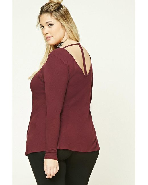 Forever 21 | Red Plus Size T-back Tunic | Lyst