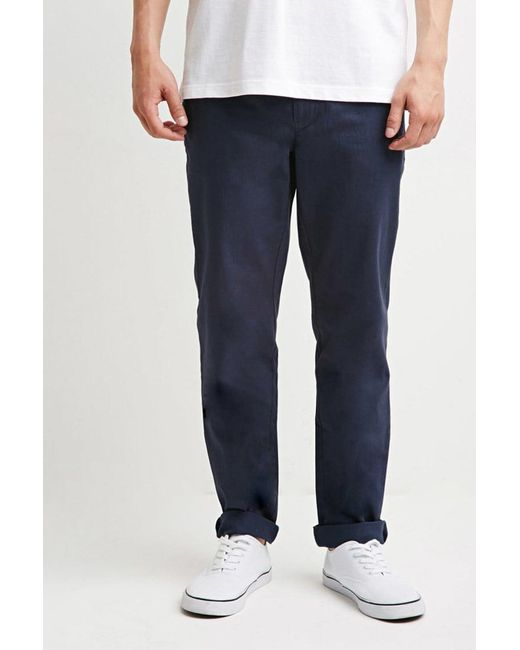 Forever 21 - Blue Classic Chinos for Men - Lyst