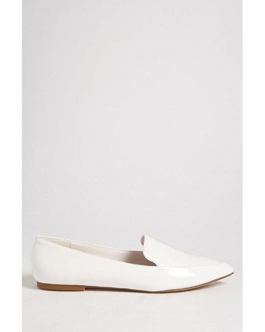 Forever 21 - White Faux Patent Leather Loafers - Lyst