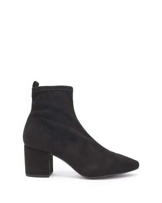 Forever 21 - Black Faux Suede Ankle Sock Booties - Lyst