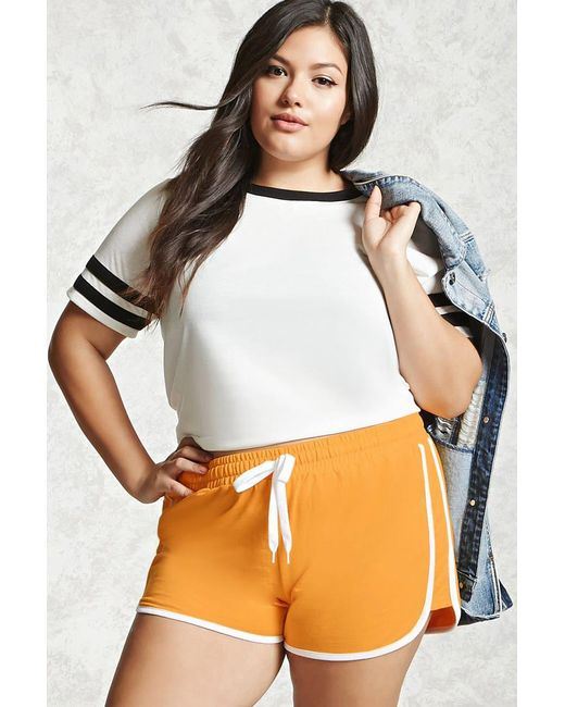 Forever 21 | Multicolor Plus Size Contrast Shorts | Lyst