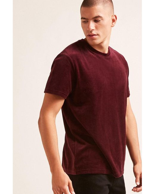 Forever 21 - Red 's Terry Cloth Tee Shirt for Men - Lyst