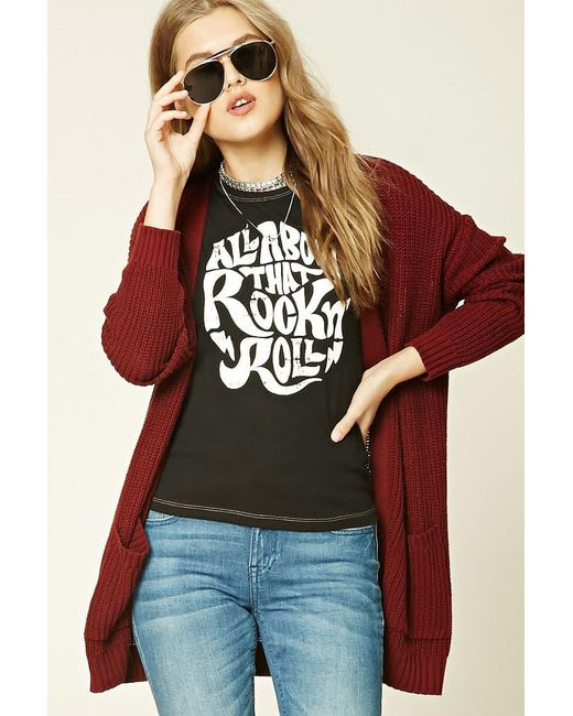 Forever 21 - Black Rock N Roll Graphic Tee - Lyst