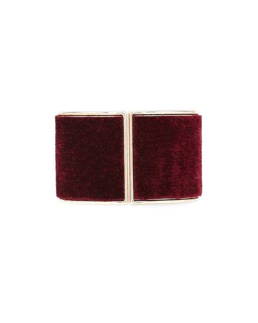 Forever 21 | Red Faux Fur Hinge Bracelet | Lyst