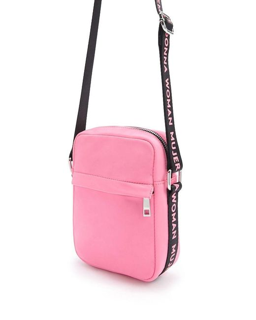 Forever 21 Pink Woman Graphic Crossbody Bag