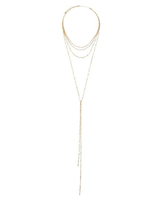 Forever 21 - Metallic Layered Rhinestone Necklace - Lyst
