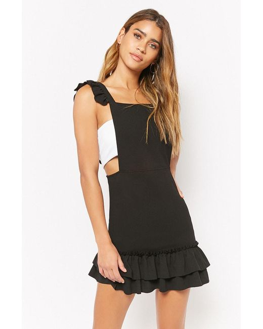 Forever 21 - Black Oh My Love Ruffle Dress - Lyst