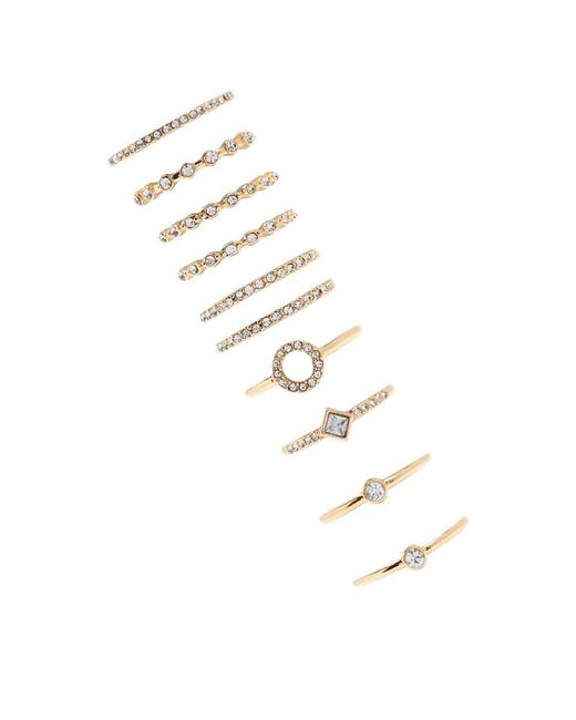 Forever 21   Metallic Assorted Ring Set   Lyst