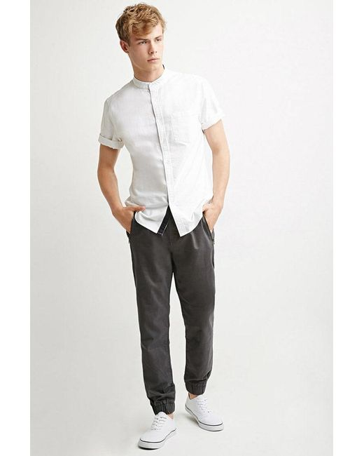 Forever 21 | Gray Zip-pocket Chino Joggers for Men | Lyst
