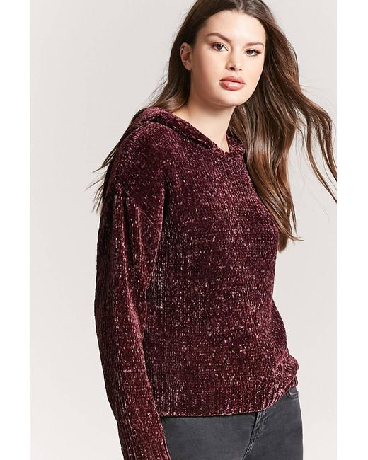 Forever 21   Multicolor Oversized Chenille Hoodie   Lyst