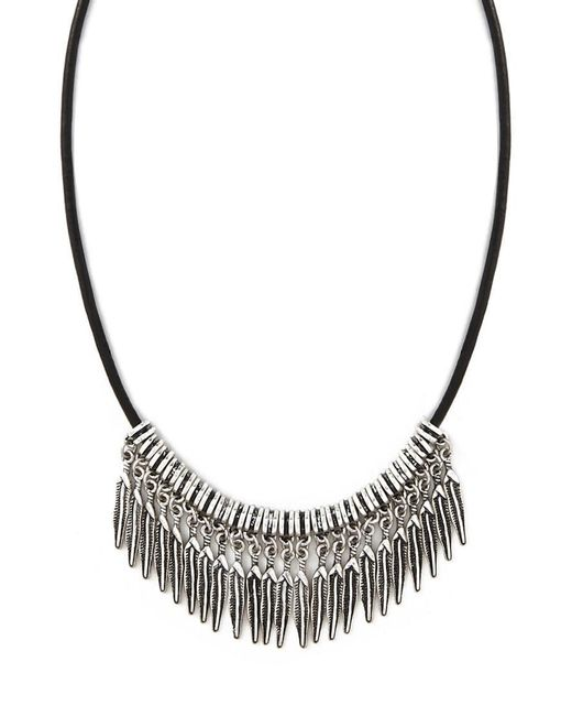 Forever 21 | Metallic Etched Feather Choker | Lyst