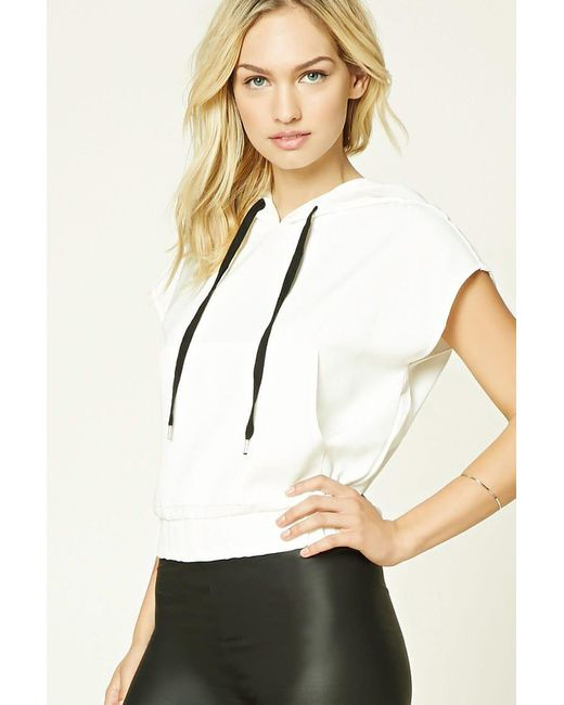 Forever 21   White Contemporary Drawstring Hood Top   Lyst