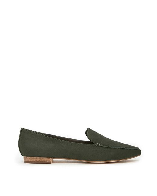 Forever 21 | Green Faux Suede Loafers | Lyst