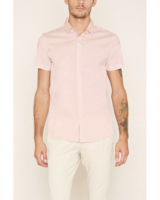 Forever 21 | Pink Button-front Shirt for Men | Lyst