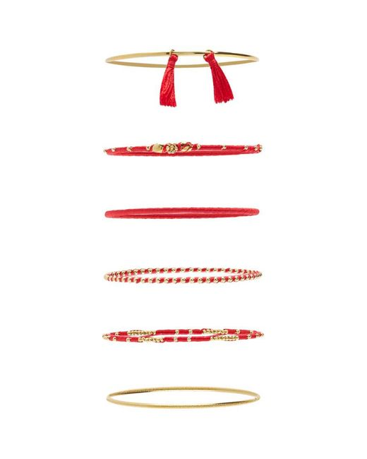 Forever 21 - Textured Bangle Bracelet Set - Lyst