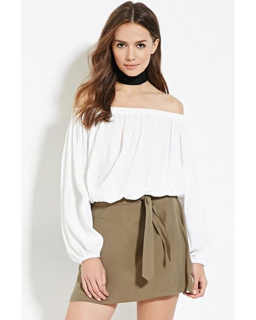 Forever 21 | Green Contemporary Belted Mini Skirt | Lyst