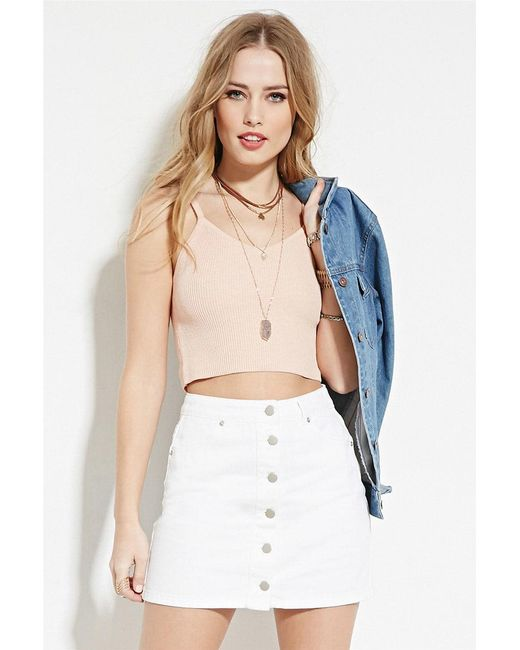 Forever 21 - Pink Cami Crop Top - Lyst