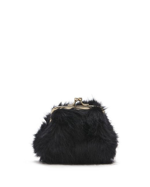 Forever 21 | Black Faux Fur Coin Purse | Lyst
