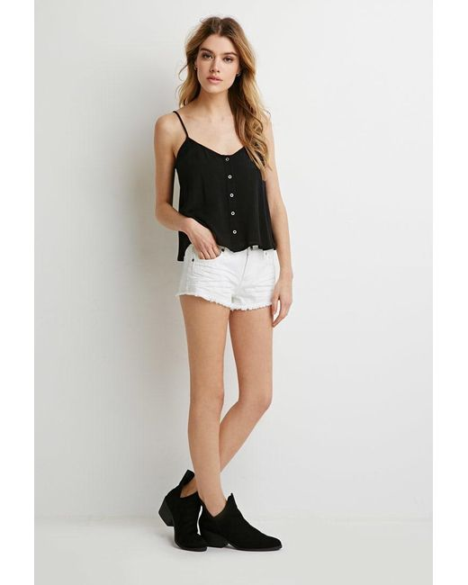 Forever 21 | Natural Low-rise Denim Cutoffs | Lyst
