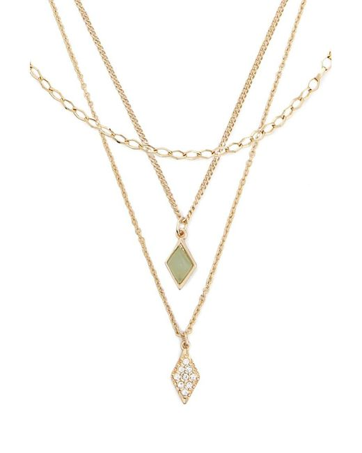 Forever 21 - Metallic Assorted Geo Pendant Necklace Set - Lyst