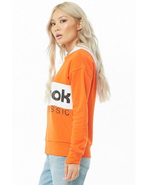 69dd3ffeeb Lyst - Forever 21 Reebok Classic Sweatshirt in Orange - Save 29%