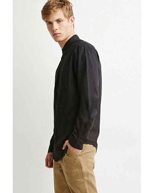 Forever 21 - Black Classic Buttoned Shirt for Men - Lyst