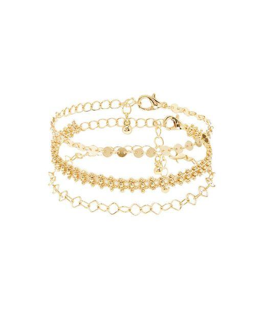 Forever 21 - Metallic Ball Chain Bracelet Set - Lyst