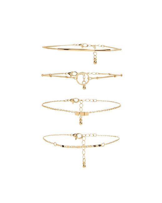 Forever 21   Metallic Charm Bracelet Set   Lyst