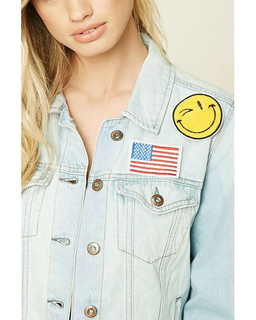 Forever 21 | Blue Happy Face Patch Pin Set | Lyst