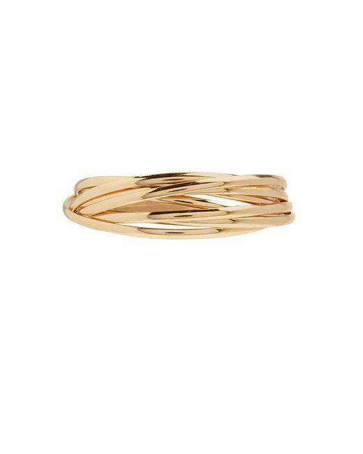 FOREVER21 - Metallic Interlocked Bangle Bracelet - Lyst