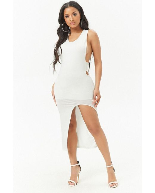 Forever 21 - White Women's Racerback Bodycon Dress - Lyst