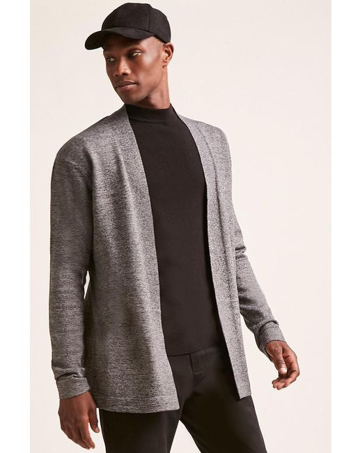 Forever 21 - Gray Open-front Cardigan for Men - Lyst